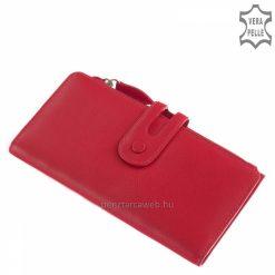 Rendkívül finom valódi minőségi bőrből készült, pink színű divatos formavilágú női bőr pénztárca borítéktáska fazonban.