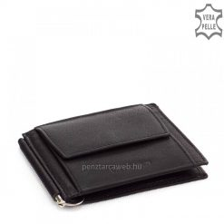 Minőségi, tartós valódi nappa bőrből készült slim bőr pénztárca avagy dollártárca, La Scala márkajelzéssel, fekete színben. Garanciával!