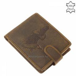 Gyalogos íjász mintás barna színű férfi bőr pénztárca, mely igazán minőségi és rendkívül egyedi GreenDeed márkás termékünk.