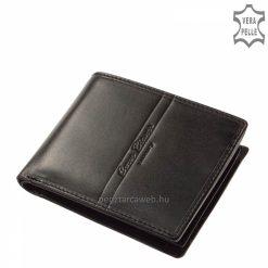 Klasszikus Corvo Bianco márkás, igényes kialakítású, elegáns, fekete színű férfi bőr pénztárca prémium kategóriájú bőr felhasználásával.