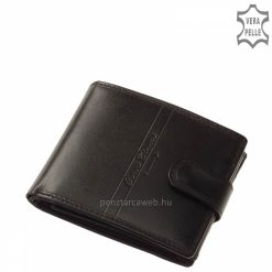 A fekete színben s rendelhető Corvo Bianco Luxury férfi bőr pénztárca sportosan elegáns kivitelezésű, puha tapintású, többrekeszes modell.