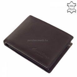 Kiváló minőségű bőrből gyártott klasszikus fekete színű férfi bőr pénztárca, mely a Corvo Bianco Luxury márkacsalád egyik igényes modellje.