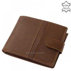 Az átkapcsolópántos Vester férfi bőr pénztárca készpénz és irattartó rekeszekkel rendelkező modell.
