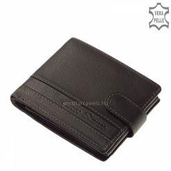 Dekoratív fekete férfi pénztárca, mely a divatos Corvo Bianco termékcsalád legújabb tagja, igazi bőr felhasználásával gyártva.
