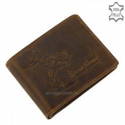 Sportos megjelenésű GreenDeed focis mintával rendelkező minőségi bőr férfi pénztárca, kellemes barna színben. Díszdobozban kapható!