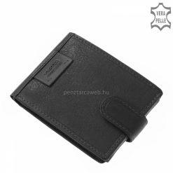 Férfi bőr pénztárca minőségi fekete valódi bőrből Vester márkás modell, mely kisméretű, akár farzsebben is könnyedén hordható.