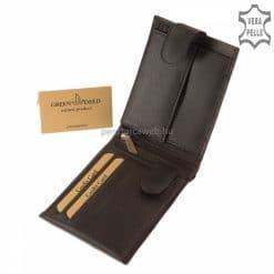 Közkedvelt modelljeink egyike ez a fekete klasszikus valódi bőr férfi pénztárca, kellemesen használható, praktikus belsővel.