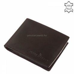 Egy nagyon jól kihasználható, szuper belsejű nagy méretű klasszikus, valódi bőr férfi pénztárca, melyet fekete színben gyártunk.