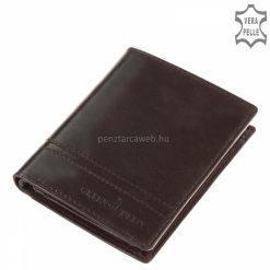 Klasszikus kialakítású, igazi bőrből készült, akár farzsebben is hordható GreenDeed márkás, elegáns fekete bőr pénztárca. Díszdobozban!