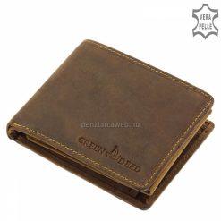 A minőségi GreenDeed márkás férfi vadász bőr pénztárca barna színű külseje a használat során érik be, így biztosan egyedi lesz a megjelenése.