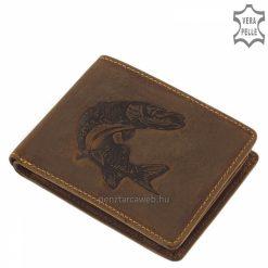 Igényes megjelenésű, barna színű GREEN DEED horgász férfi pénztárca minőségi, igazi marha bőr alapanyagból gyártva. Stílusos díszdobozban.