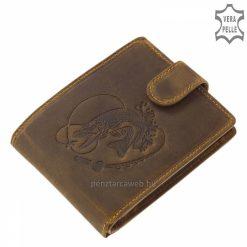 GreenDeed horgász mintával díszített férfi bőr pénztárca kitűnő minőségű, természetes karakterű valódi marhabőrből gyártva. Díszdobozos.