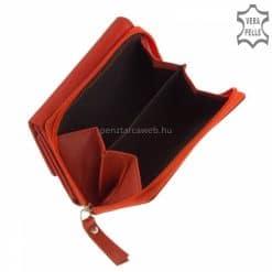 A női kis méretű klasszikus pénztárca valódi bőrből készült piros színben, a GreenDeed márkacsalád új és roppant elegáns modelljeként.