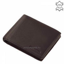 Valódi marhabőr felhasználásával készült, biztonságos és klasszikus felépítésű férfi bőr pénztárca, fekete fedelén LA SCALA felirat.
