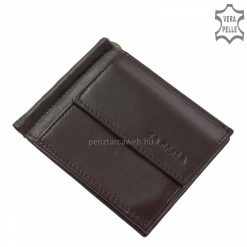 LA SCALA valódi bőrből gyártott új terméke ez a fekete színű bőr dollártárca, aprópénztartóval és külső kártyatartóval is rendelkező modell.