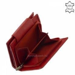 Praktikus méretű, minőségi női pénztárca piros színben díszdobozban forgalmazva, mely igazi puha nappa bőr felhasználásával készült.