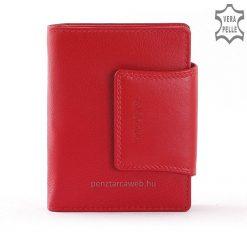Valódi bőrből készült La Scala márkajelzésű, kis méretű, igazán praktikus női bőr pénztárca elegáns piros színben gyártva.