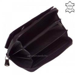 Loren női bőr pénztárca fekete 73001 belső kép