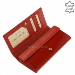 Nagy méretű croco mintás díszítéssel tettük még különlegesebbé a fényes felületű piros női bőr pénztárca modellt. Díszdobozos modell.