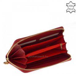 Minőségi fényes lakk kroko bőrbőlkészültexkluzív piros női bőr pénztárca. Körben cipzár fut végig a tárcán. Díszdobozban szállítjuk!