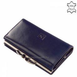 Nicole márkás fényes valódi bőrből készült, klasszikus női bőr pénztárca kék színben elegáns vonalvezetéssel, tapintásra is kellemes.