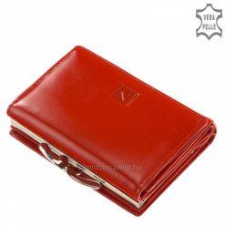 Helytakarékos, minőségi tervezésű, piros női bőr pénztárca az elegáns Nicole márkanévvel a fedelén, melyet patenttal tudunk zárni.
