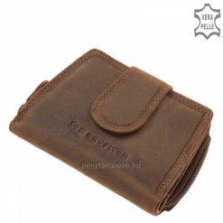 Natúr hatású barna bőrből készült női bőr pénztárca SF SKYFLYER márkás díszdobozban, kártyatartós modell, mely ajándékba is jó választás.