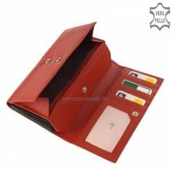 La Scala márkás, nagy méretű, sokoldalú pincér pénztárca valódi bőrből piros színben, mely igazán hasznos és tartós termékünk.