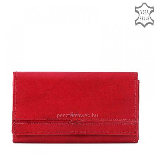 Első osztályú minőségi bőrből készült nagy méretű, piros színű női bőr pénztárca, szolid ugyanakkor rendkívül nőies megjelenéssel.