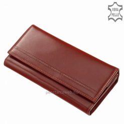 Minőségi valódi bőrből készült praktikus lehetőségeket tartogató nagy méretű bőr pénztárca piros színben az S. Belmonte márkacsaládtól.