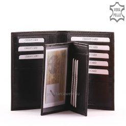 Igazán nagy mérettel rendelkező minőségi irattartó bőr pénztárca valódi puha bőrből, elegáns fekete színben elkészítve. Gyári garanciával!