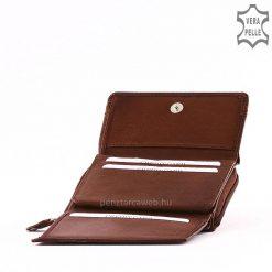 Kis méretű, praktikus női bőr pénztárca valódi bőrből izgalmas barna színben S.Belmonte márkajelzésű csodaszép modell. Garanciális termék!
