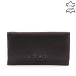 Nagy méretű, minőségi női bőr pénztárca mely valódi puha bőrből készült, fekete színben az S.Belmonte termékcsalád kínálatából.