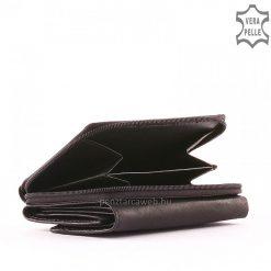 Kis méretű, praktikus női bőr pénztárca valódi bőrből izgalmas fekete színben S.Belmonte márkajelzésű csodaszép modell. Garanciális termék!