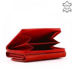 Kis méretű, praktikus női bőr pénztárca valódi bőrből izgalmas piros színben S.Belmonte márkajelzésű csodaszép modell. Garanciális termék!