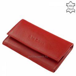 Gyors szállítással érkezik ez a brifkó fazon modell, mely piros színű, nagy méretű női bőr pénztárca aprópénztartóval és fényképtartóval.