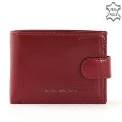 Synchrony márkajelzésű, ajándéknak is kiváló kisméretű női bőr pénztárca minőségi, valódi bőrből piros színben, díszdobozos kivitelben.