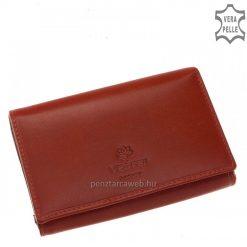 Kiváló minőségű, prémium selyemfényű valódi marhabőrből készült elegáns piros színű női bőr pénztárca VESTER LUXURY márkás modell.
