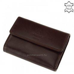VESTER LUXURY logós, exkluzív megjelenésű, kiválóminőségű bőrből legyártott elegáns sötétbarna színű női bőr pénztárca. Díszdobozos modell.