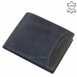 Egyedien szép külső dizájnnal tervezett, minőségi tapintású, sportos stílusú Giultieri valódi férfi bőr pénztárca kék és szürke színekben.