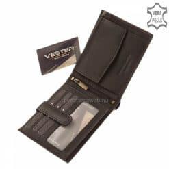 A Vester modellcsaládunk legújabb minőségi tagja ez a fekete színű divatos valódi bőr férfi pénztárca modell. Díszdobozos termék.