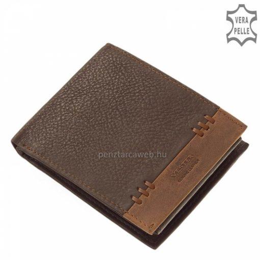 A Vester modellcsaládunk legújabb minőségi tagja ez a sötétbarna színű divatos valódi bőr férfi pénztárca modell. Díszdobozos termék.