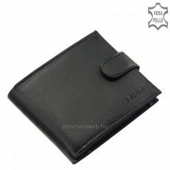 Kiváló belső elrendezésű minőségi valódi bőr férfi pénztárca fekete színben, melyben rendszerezve tudjuk tárolni értékeinket, iratainkat.