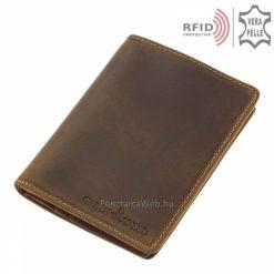 irattartós barna bőr férfi pénztárca