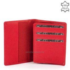Igazi nappa bőr női irattartó pénztárca divatos piros színben, egyedi piros díszítéssel, ajándékba is kiváló. La Scala márkajelzéssel.