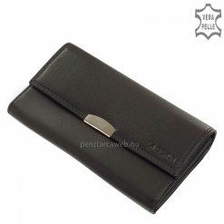 Kitűnő minőségű igazi bőrből készült nagyméretű bőr pincér pénztárca fekete színben, minőségi, praktikus és kényelmes kialakítással.