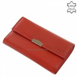 Kitűnő minőségű marhabőrből készült elegáns női pincér bőr pénztárca piros színben, melyet stílusos díszdobozban forgalmazunk.