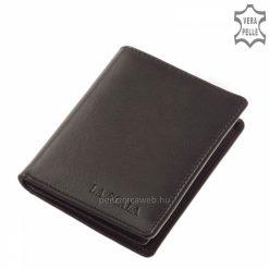 Praktikus kialakítású La Scala fekete bőr kártyatartó, könnyű felhasználást biztosító pénztárca modell, mely minőségi valódi bőrből készült.