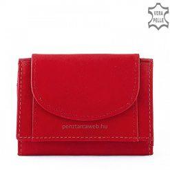 Kiváló minőségű marha nappa bőr, piros női pénztárca egyszerű de stílusos kialakítással, ajándéknak is praktikus választás.
