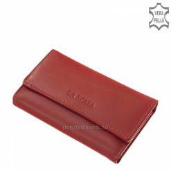 Praktikus, könnyű felhasználást biztosító La Scala piros bőr kulcstartó modell, mely minőségi, finom tapintású valódi nappa bőrből készült.